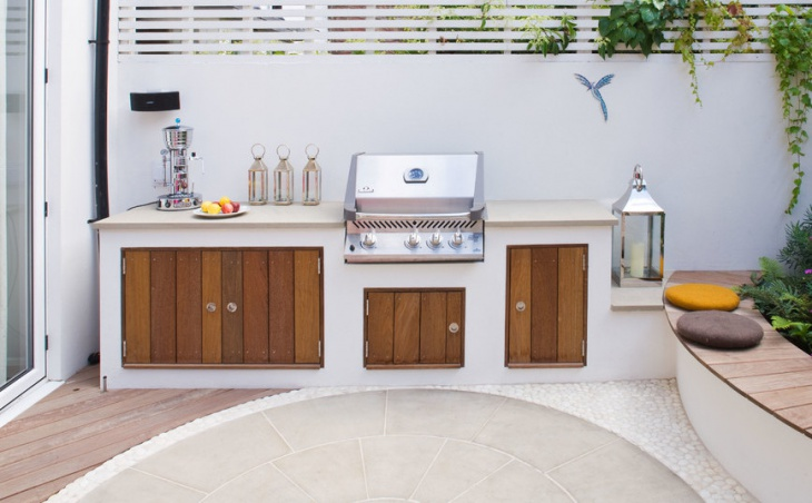 simple outdoor patio kitchen