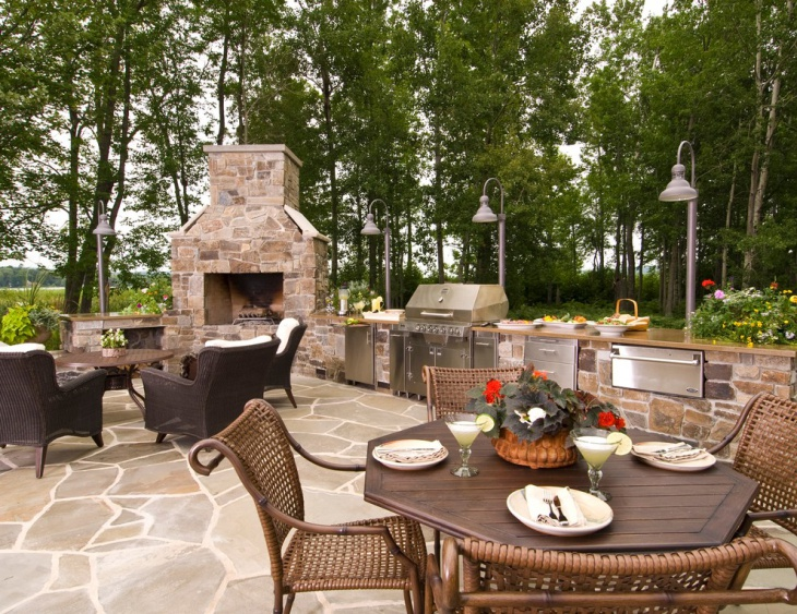 large luxury outdoor kitchen