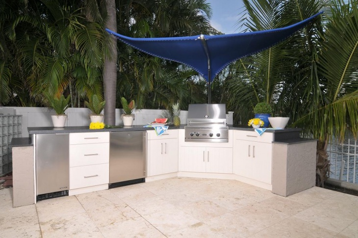 contemporary outdoor kitchen cabinets