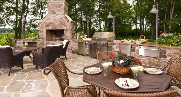 30+ Outdoor Kitchen Designs, Ideas   Design Trends - Premium PSD ...