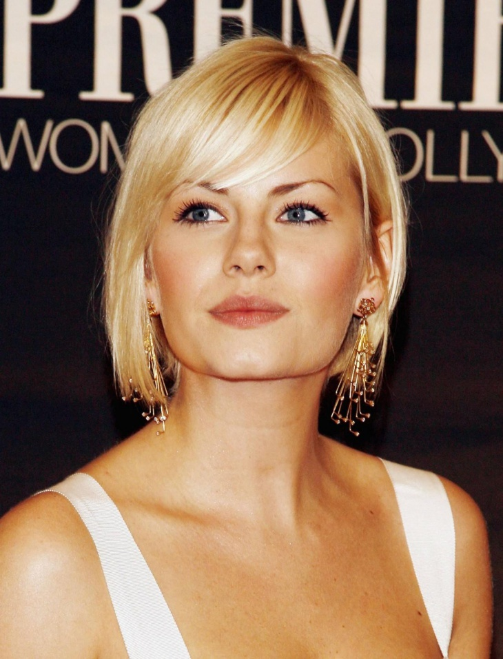 elisha cuthbert short wavy bob haircut with bangs