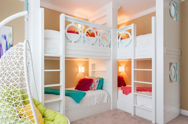 Double Bunk Bed Room Idea