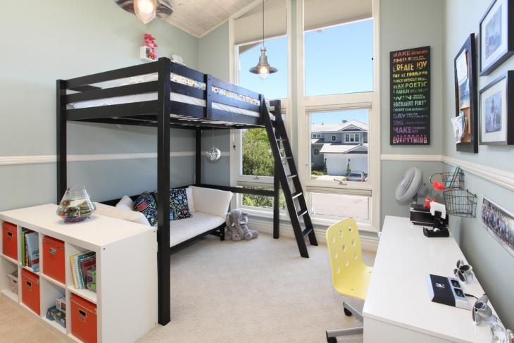 Kid's Loft Bed Design