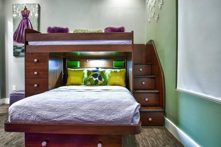 Loft Bed Storage Design