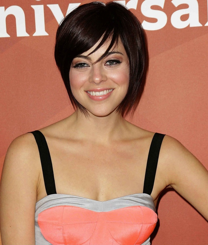 krysta rodriguez short tapered angled bob haircut