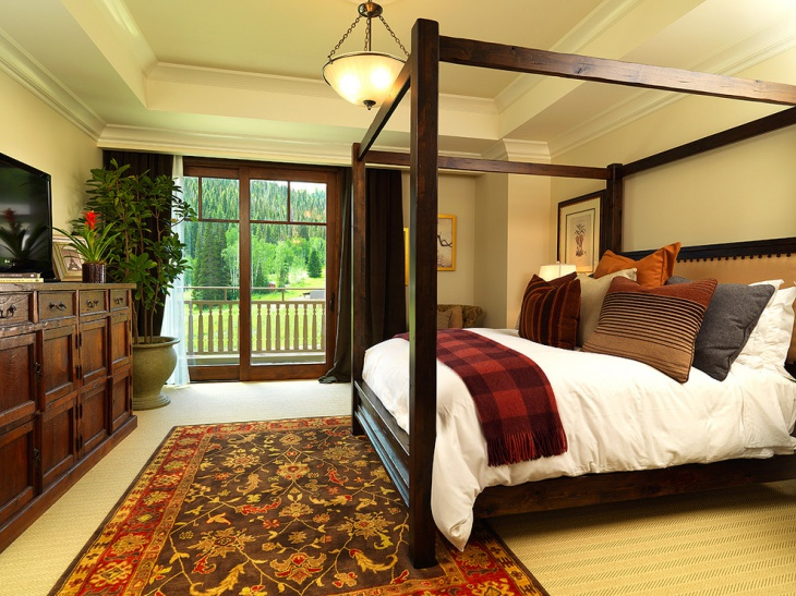 Traditional Wooden Bed Design