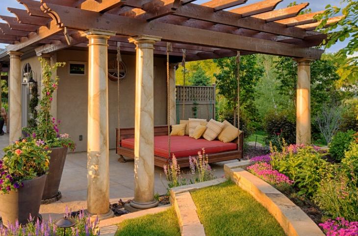 Outdoor Swinging Bed Design