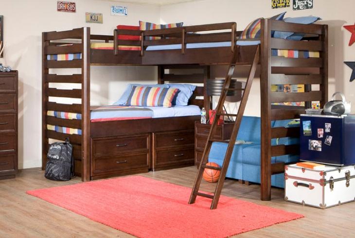 Corner Bunk Bed Design