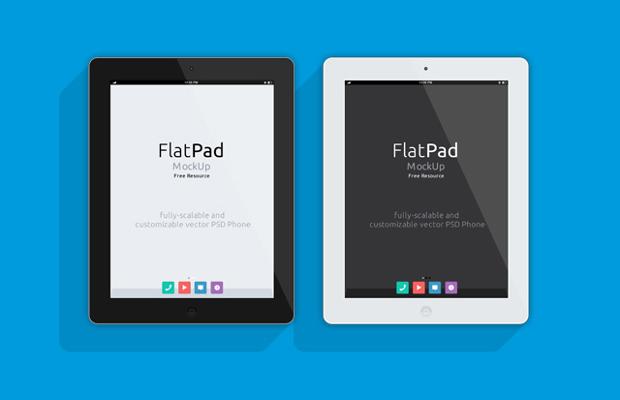 Flat iPad PSD Mockup