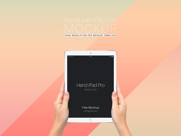 Hand iPad Pro Mockup