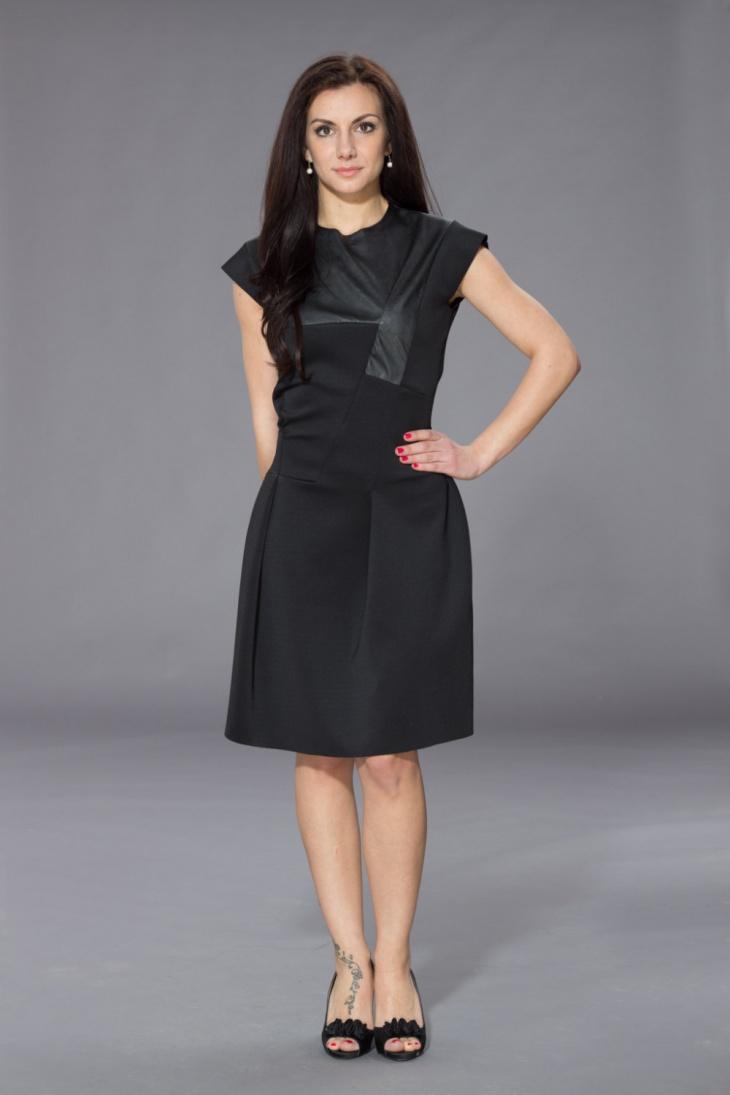 Little Black Faux Leather Dress