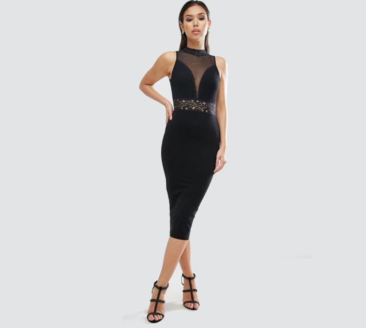 Sleeveless Little Black Bodycon Dress