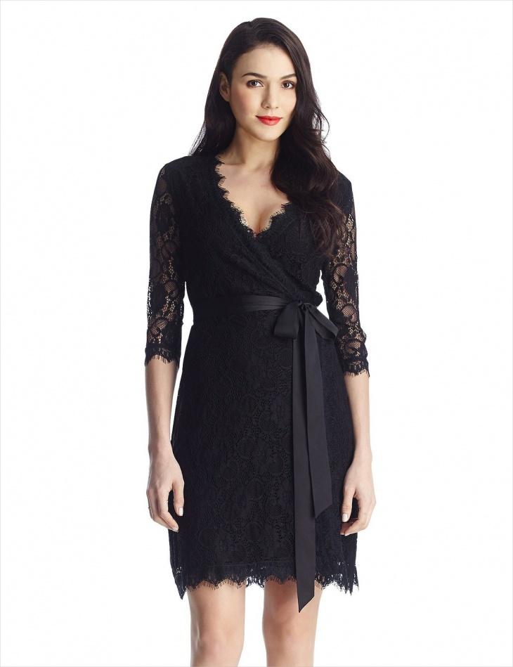 Formal Little black Wrap Dress