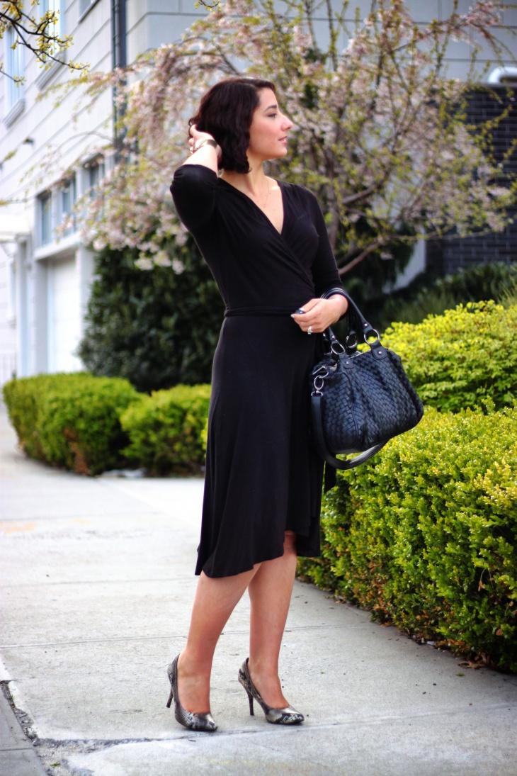 Little Black Wrap Around Dress