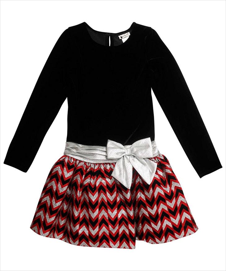 Little Girl Black Velvet Dress