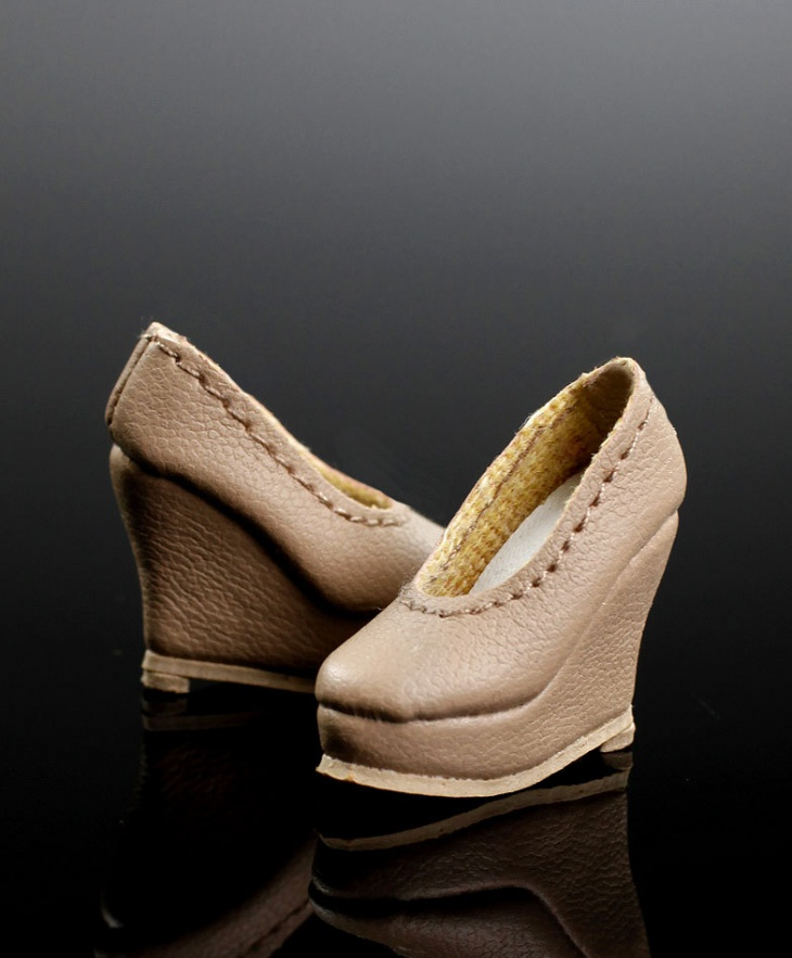 Leather Fashion Wedge Shoes