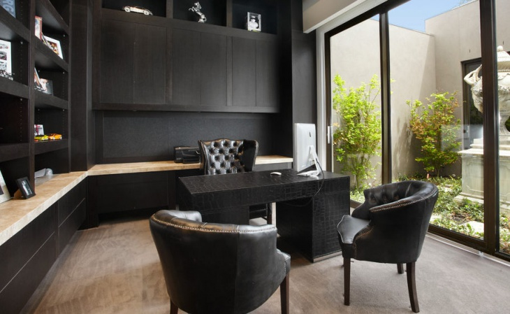 Black Executive Home Office Furniture