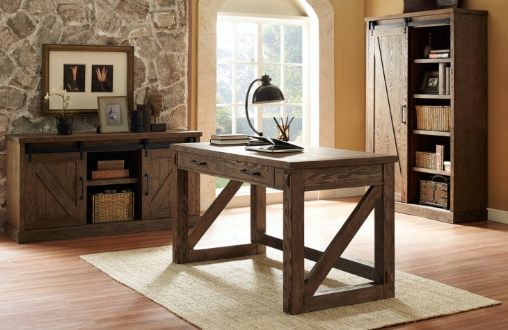 Rustic Oak Home Office Furniture. Design By Martin Furniture