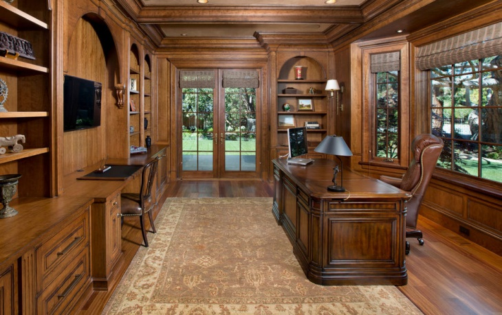 Charming Traditional Oak Home Office Furniture