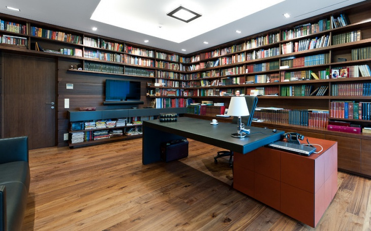 Home Office Wood Library Furniture