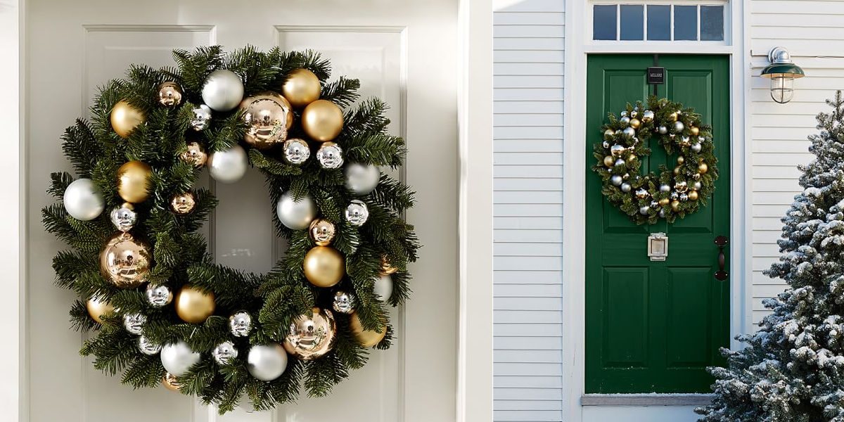 outdoor-ornament-pine-wreath-goldsilver