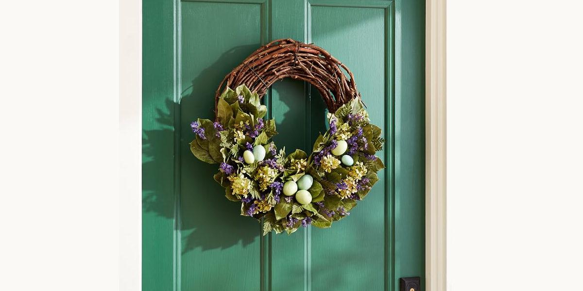 live garden wreath