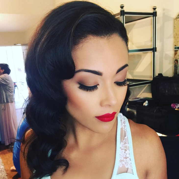 vintage prom hair and makeup