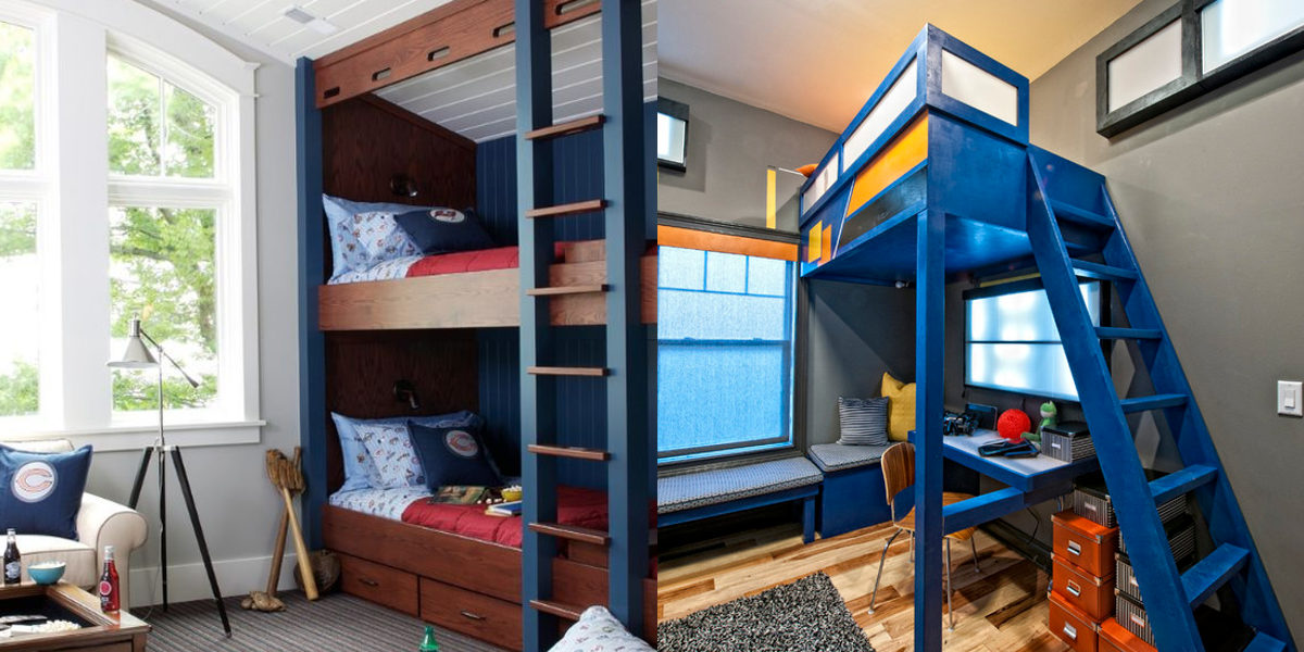 bold bunk bed design