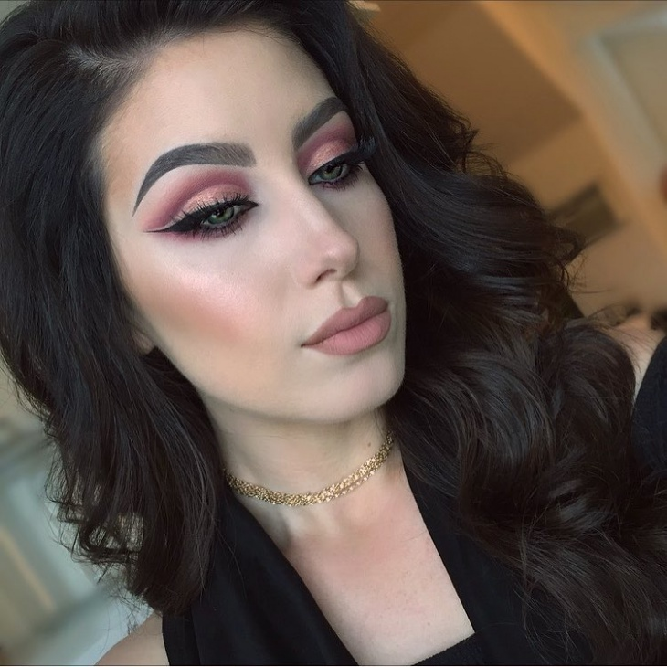 dramatic pink prom makeup