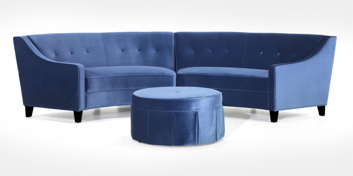 Atlanta Small Curved Sofa With Ottoman