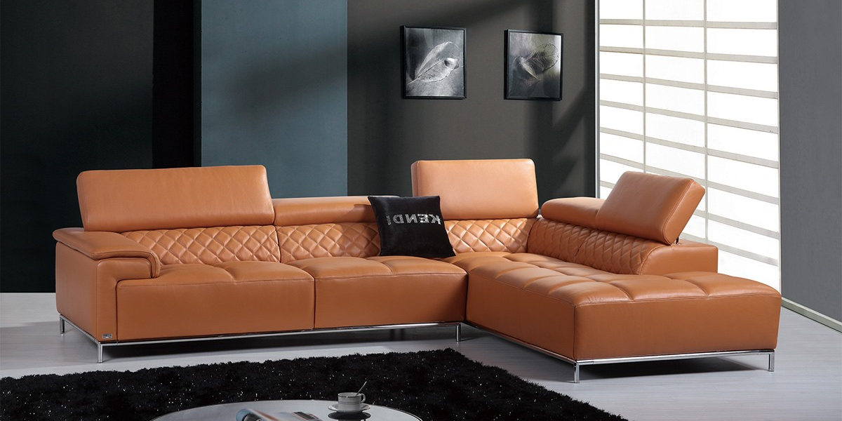 modern-sectional-sofa-with-audio-system-orange-leather