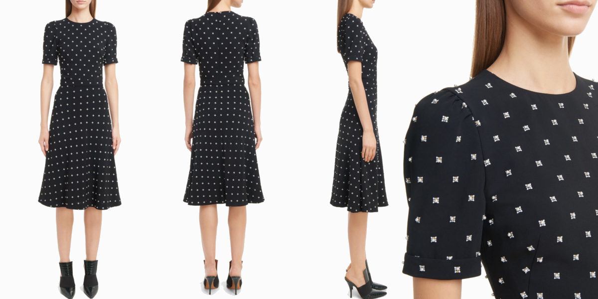 givenchy faux pearl printed dress