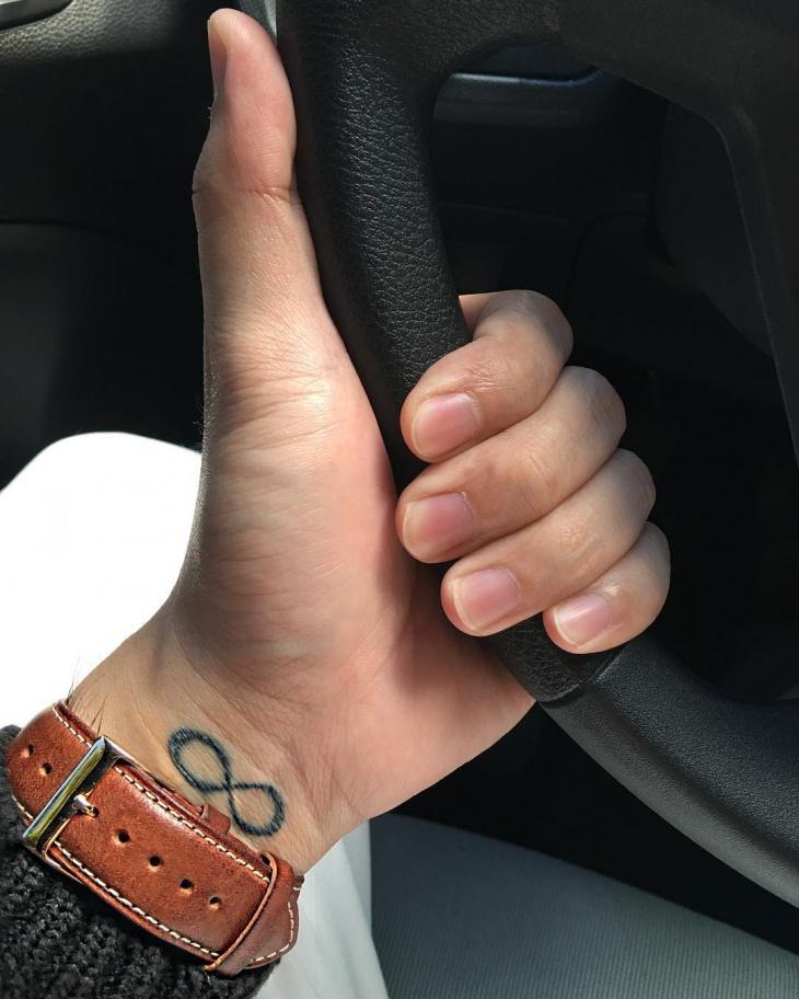 Small Infinity Tattoo on Wrist