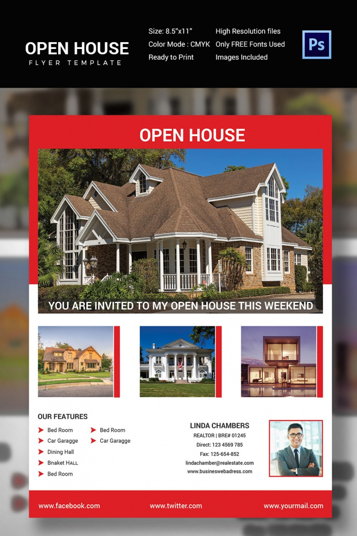 27 open house flyer templates printable psd ai vector eps design trends premium psd. Black Bedroom Furniture Sets. Home Design Ideas