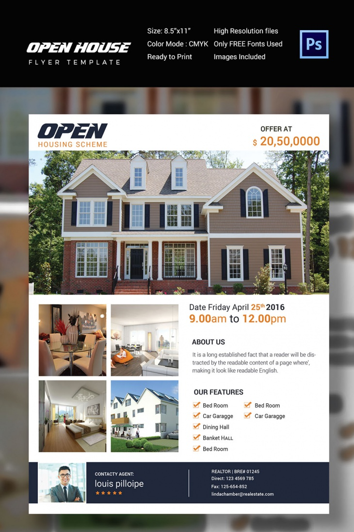 open house flyer templates printable psd ai vector eps classy open house flyer