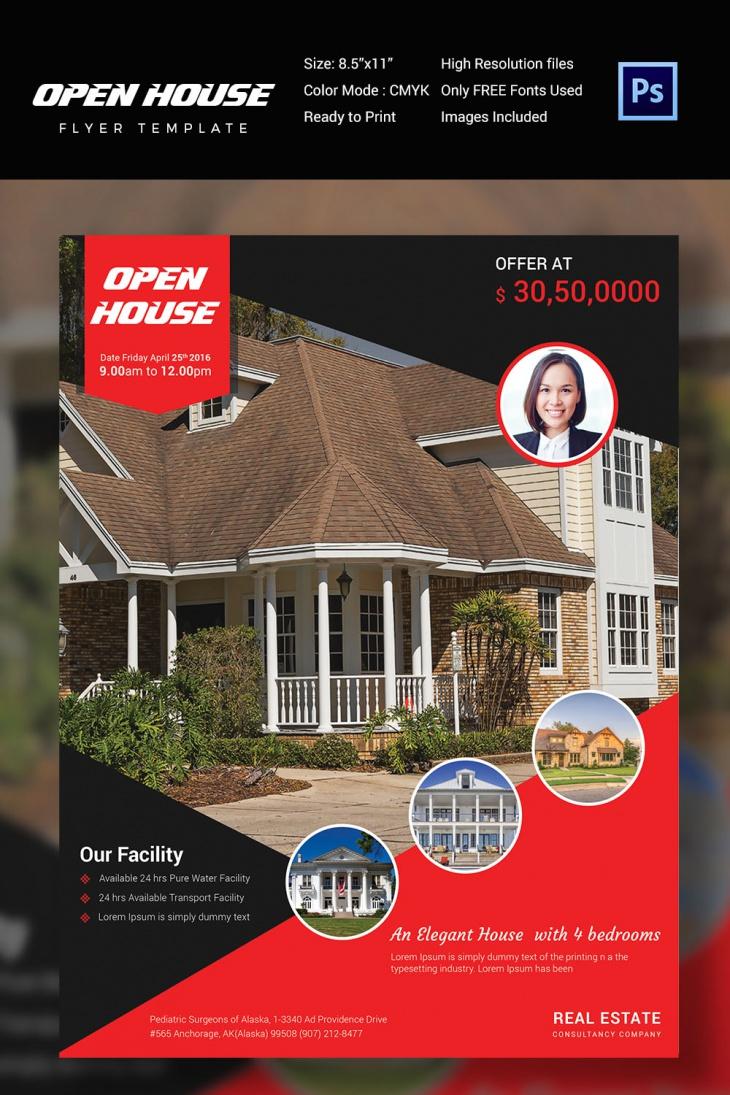 Modern Open House Flyer
