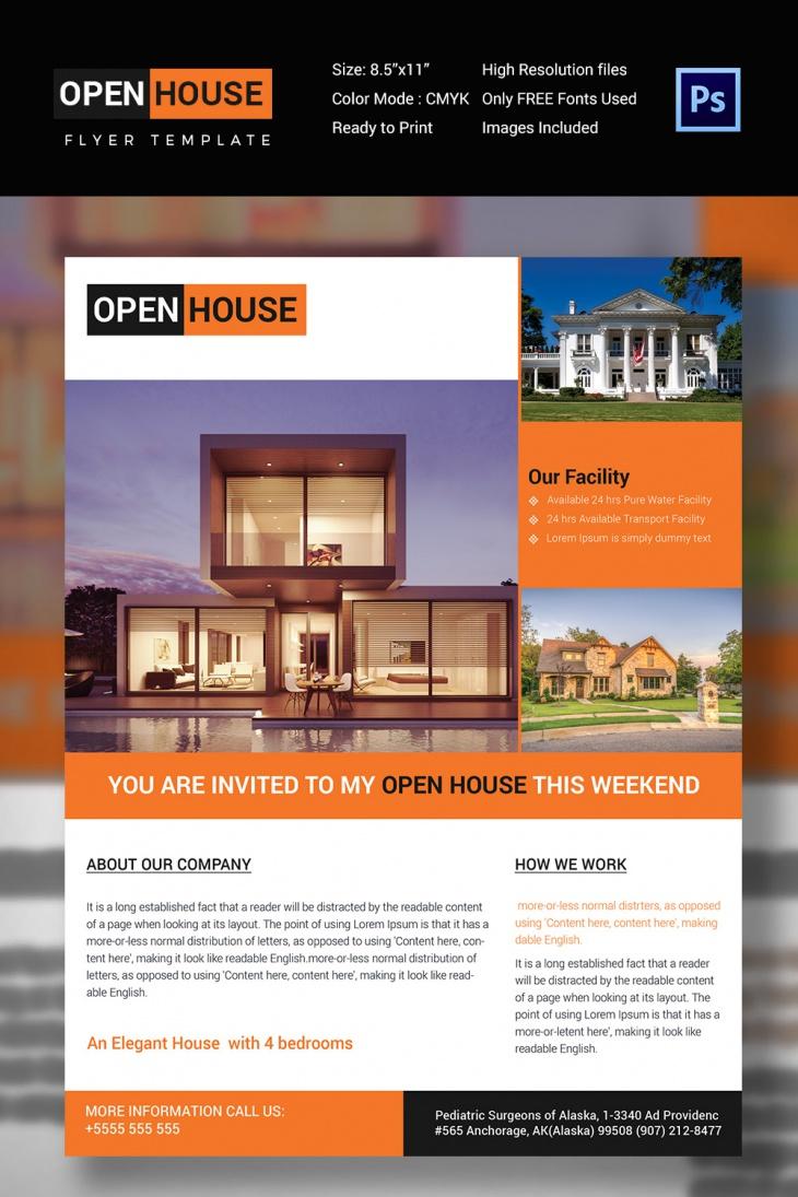 A4 Open House Flyer
