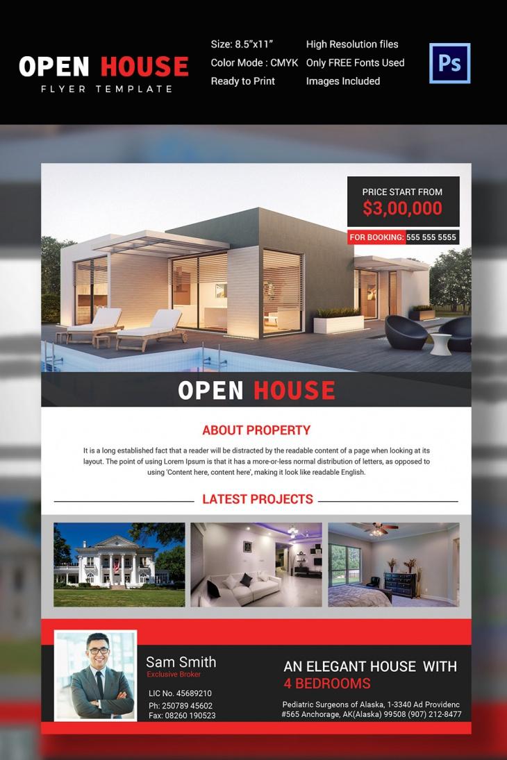open house flyer templates printable psd ai vector eps real estate agencies open house flyer