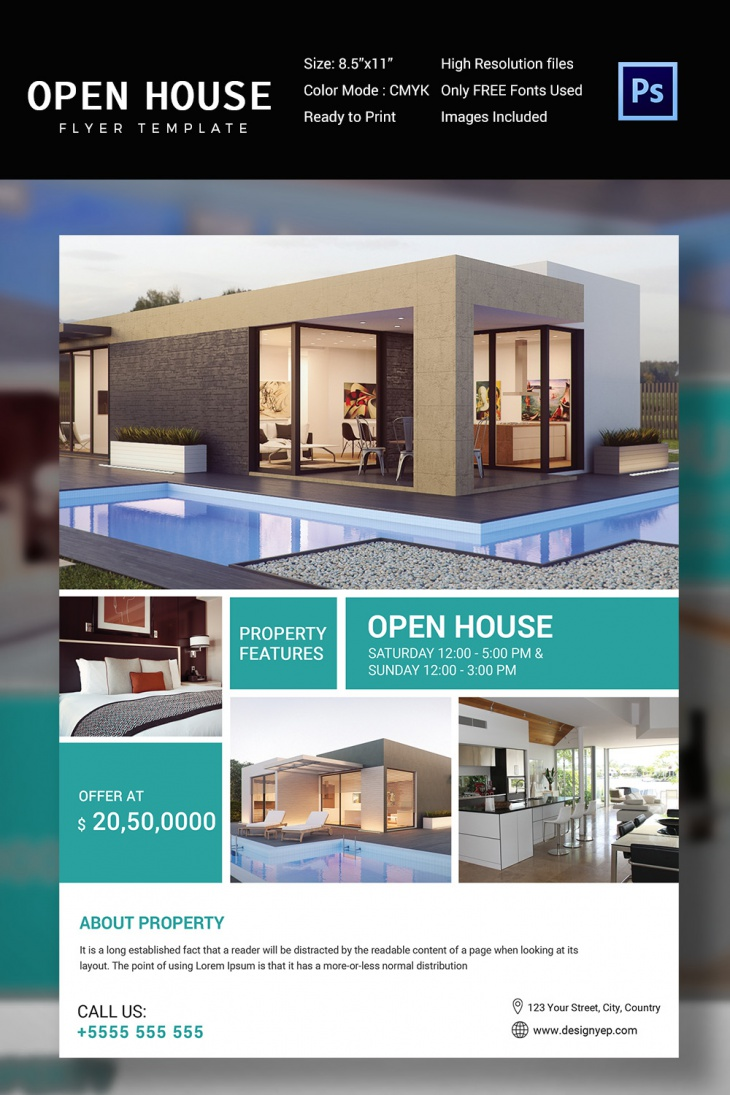 free open house flyer templates 27 open house flyer templates – Free Open House Flyers