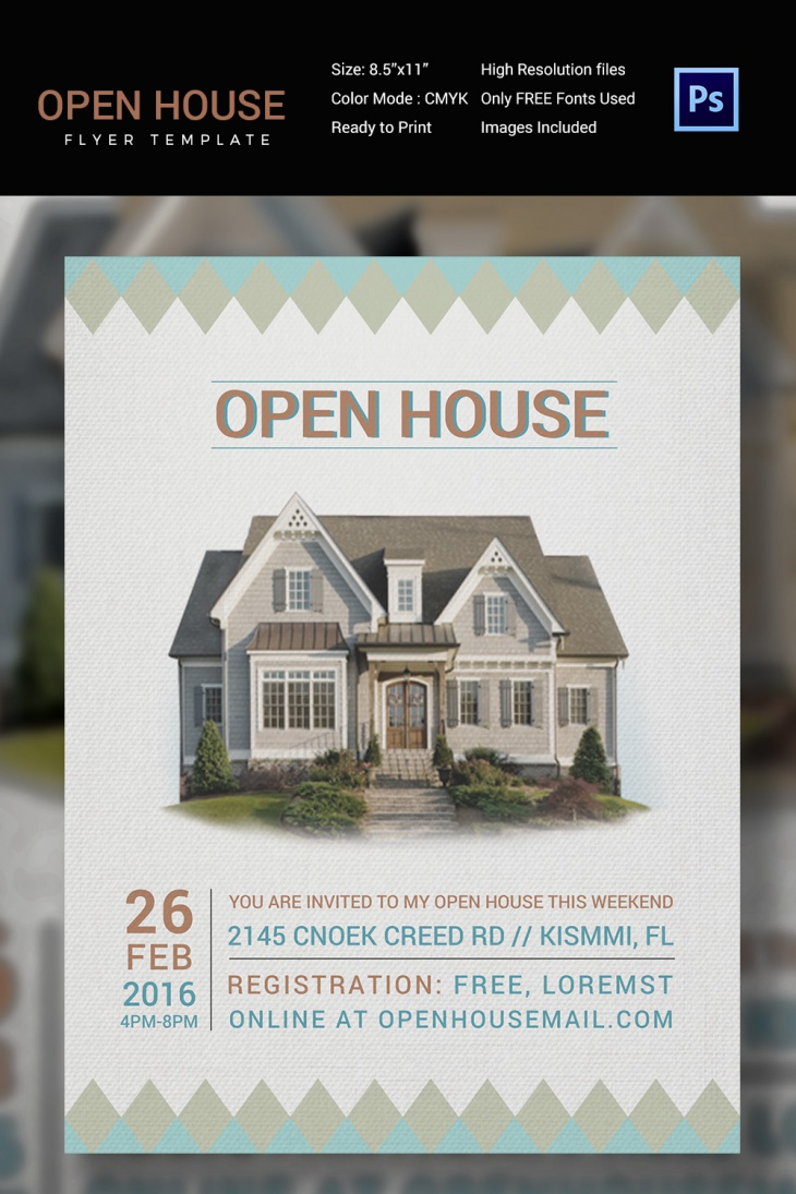 real estate open house invitation template 28 images open house flyer template photoshop. Black Bedroom Furniture Sets. Home Design Ideas