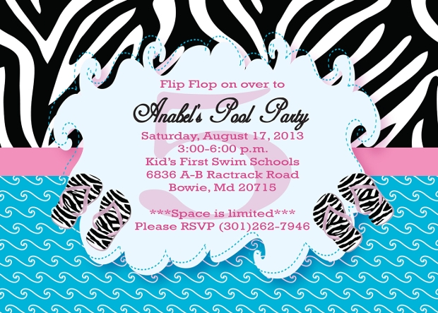 Pool Party Invitation For Teens