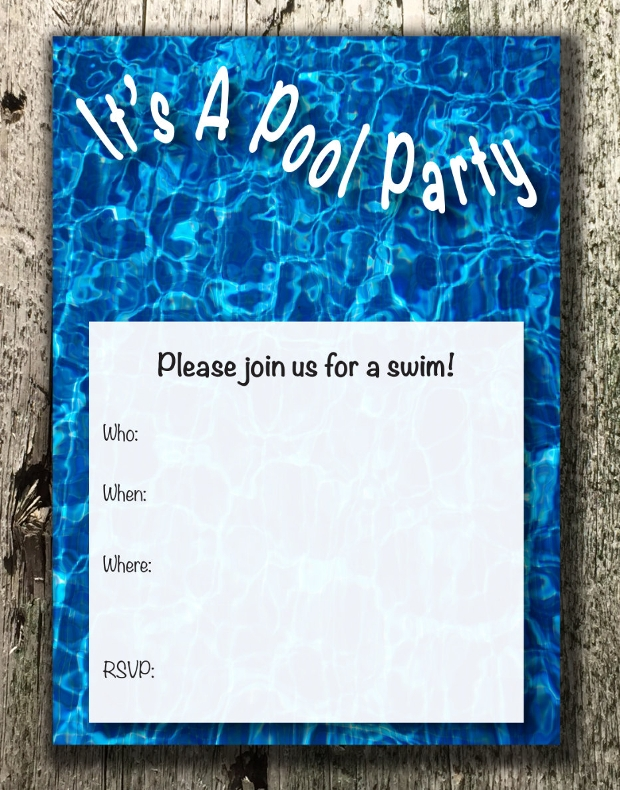 15+ Pool Party invitations - Printable PSD, AI, Vector EPS | Design ...