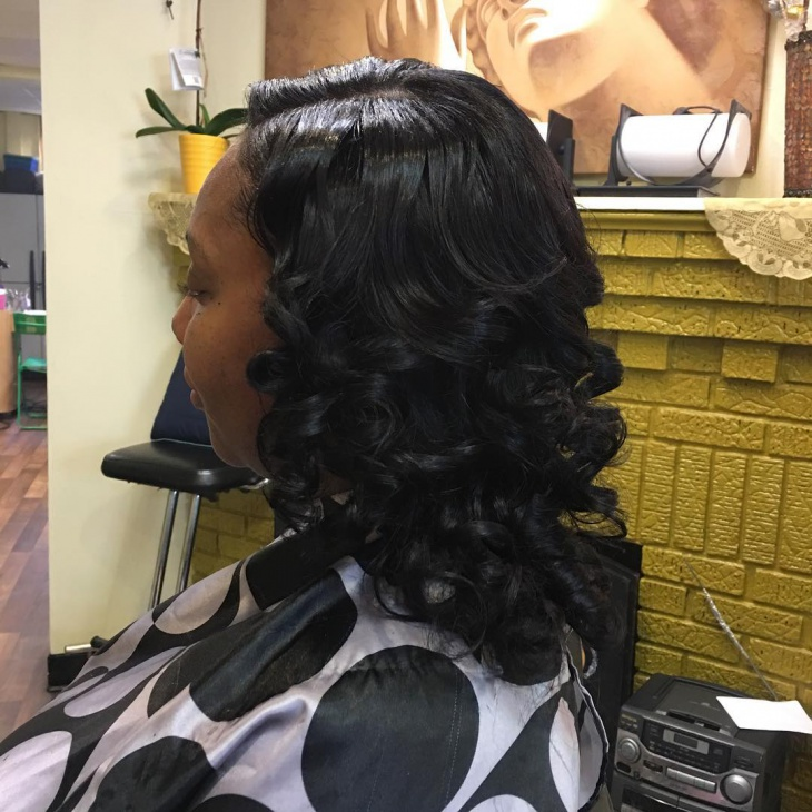 quick Prom Weave Hairstyle