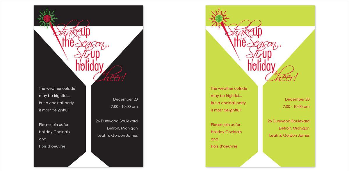 martini-season-invitation-card