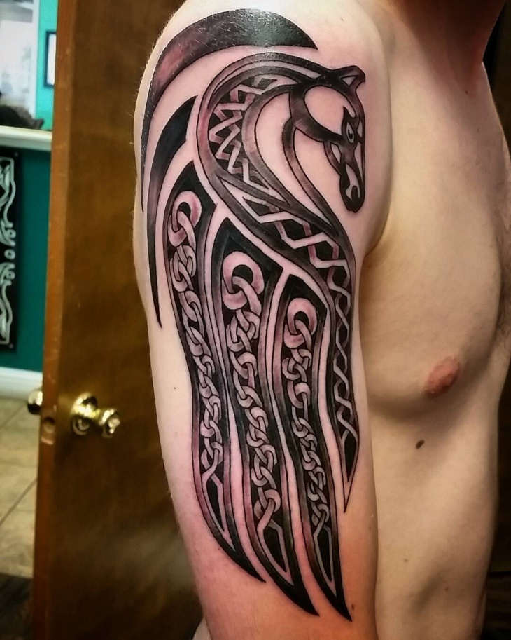 21 half sleeve tattoos ideas design trends premium for Celtic skull tattoo