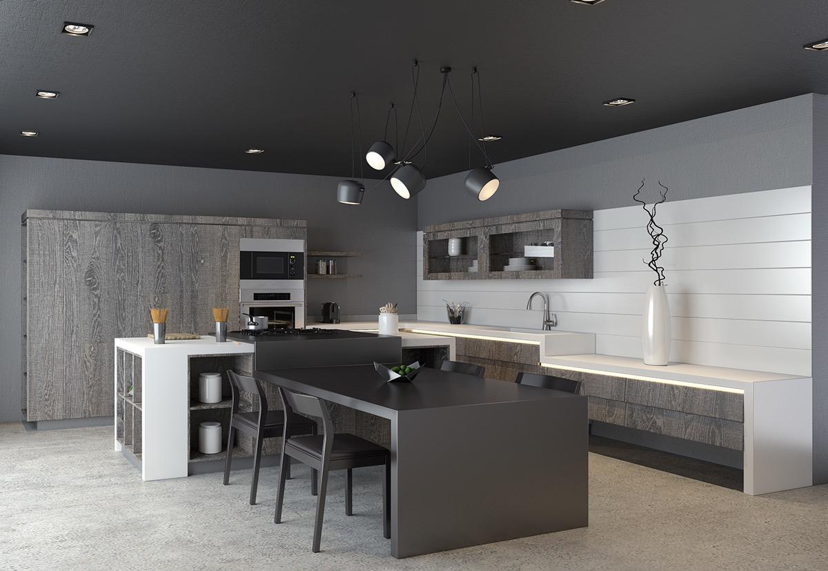 Modern Black Kitchen Chair Design