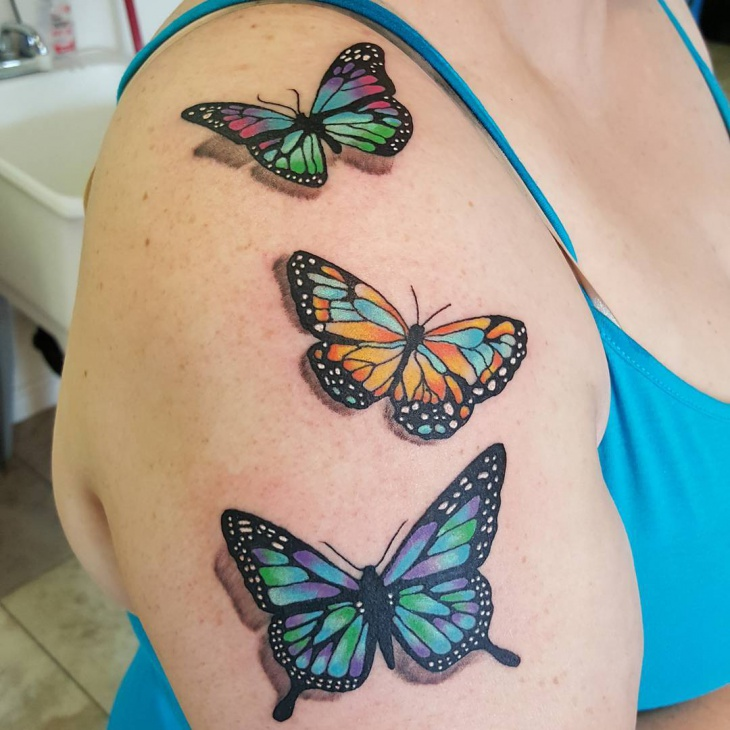 21 half sleeve tattoos ideas design trends premium for Butterfly tattoo arm designs