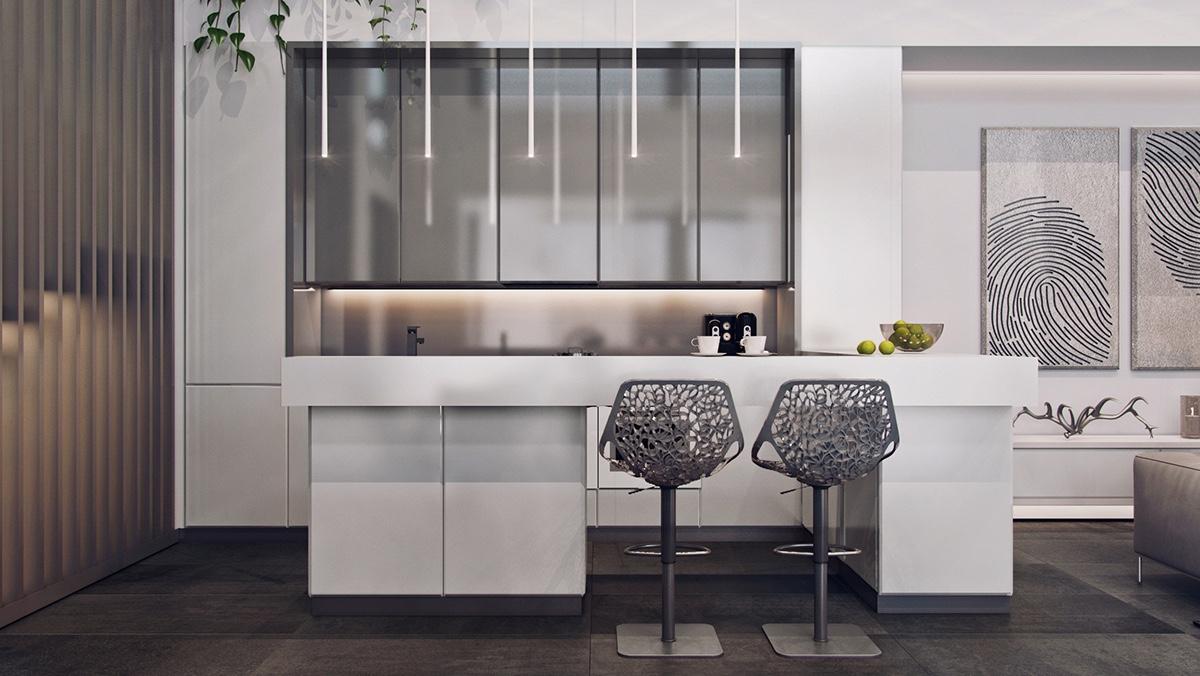 Modern Metal Kitchen Chair