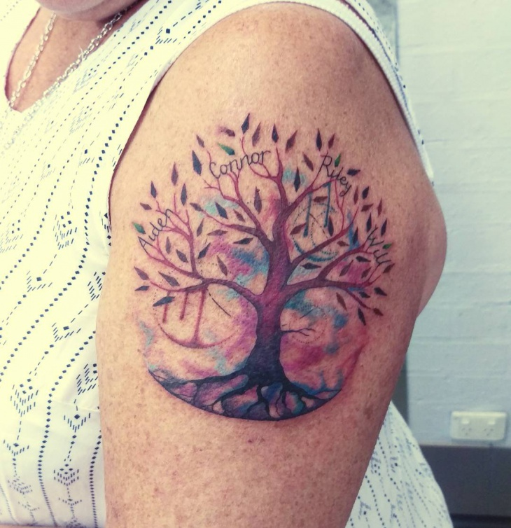 Family Tree Tattoo Ideas: 25+ Tree Tattoo Designs, Ideas
