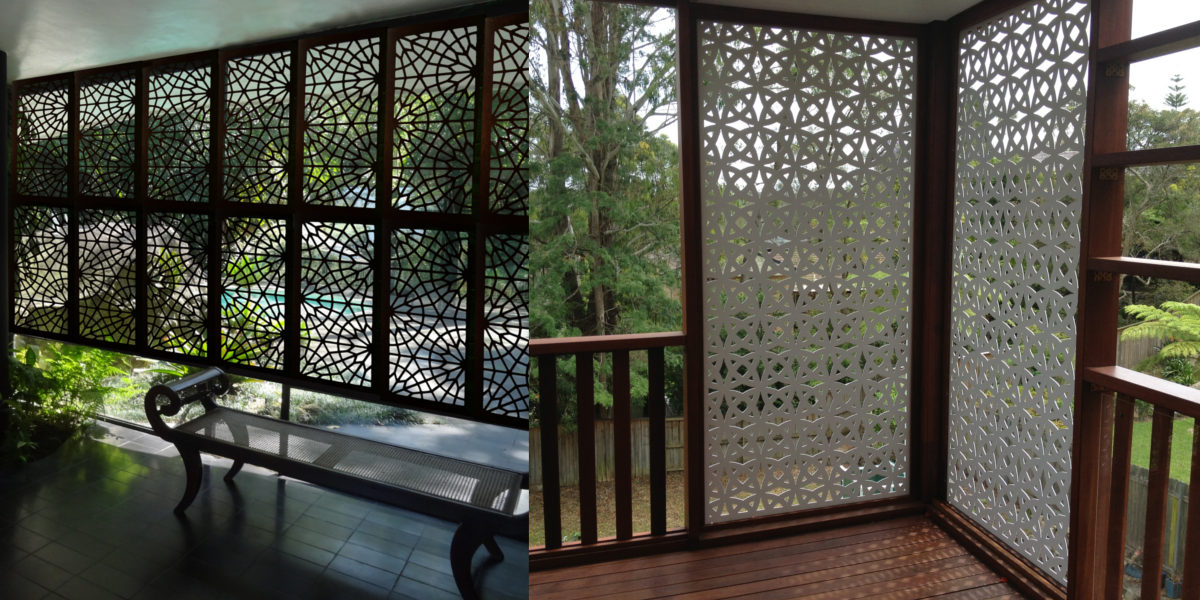 Fretwork Panel Screens